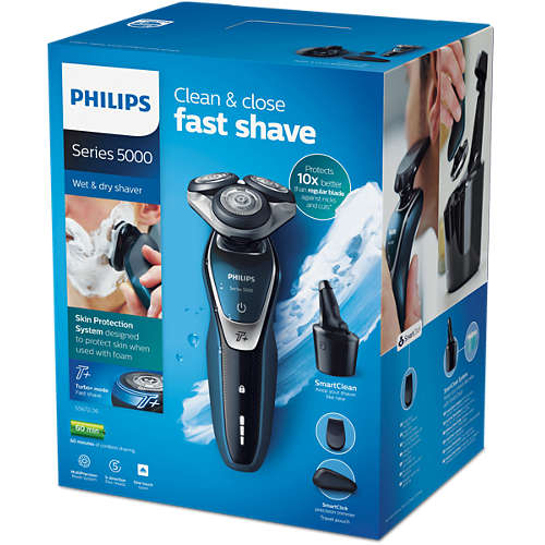 Shaver series 5000 Elektrisch scheerapparaat voor nat en droog scheren
