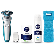Philips Shaver series 7000 Wet and dry electric shaver S7311/66 SkinGlide Rings GentlePrecisionPRO Blades SmartClick precision trimmer Shave gel & after shave balm