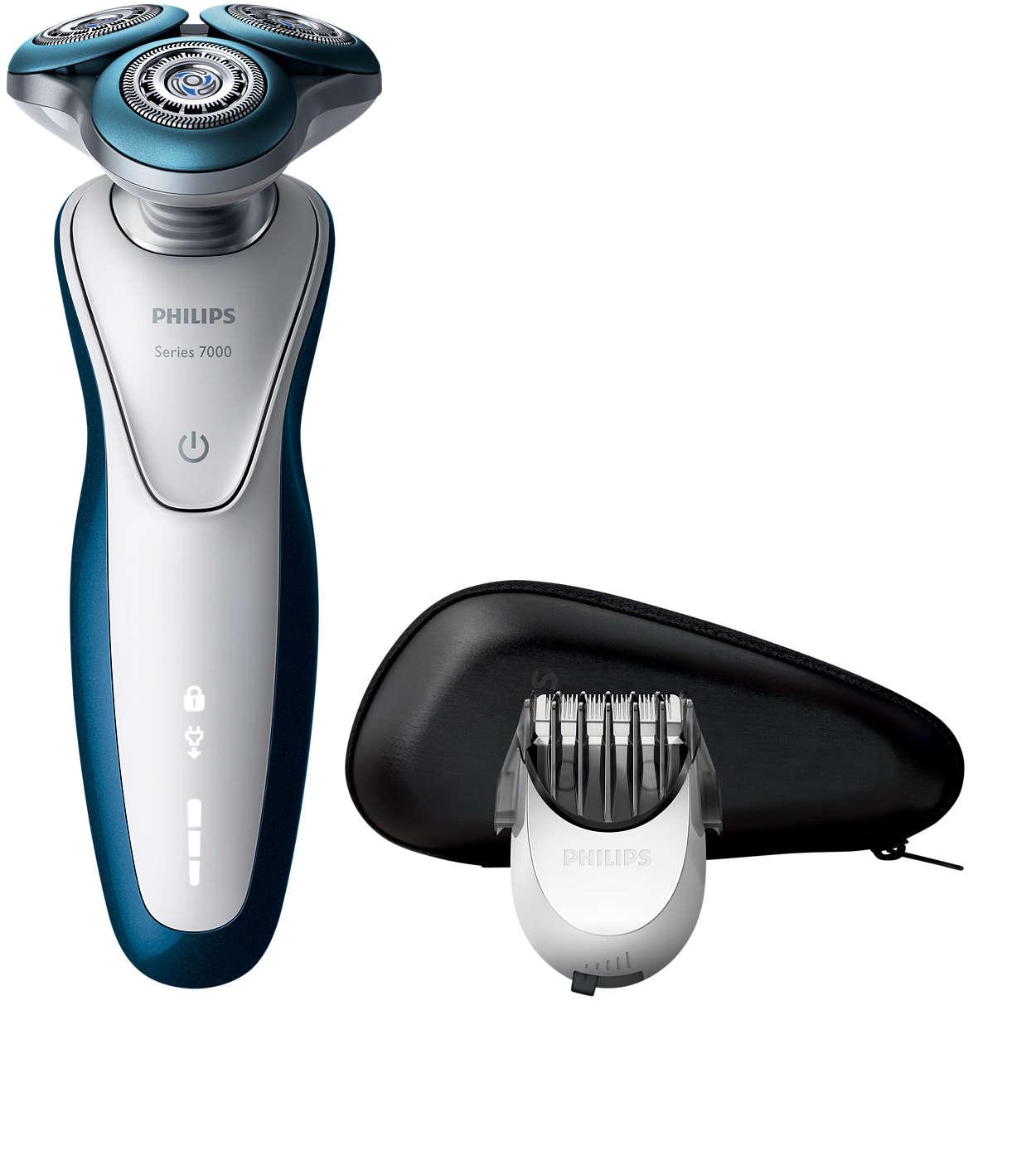 Glider jævnt hen over huden og giver en sensitiv barbering