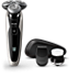 Philips Shaver series 9000 Wet and dry electric shaver S9090/43 V-Track Precision Blades 8-direction ContourDetectHeads Cleansing brush & P. trimmer with SmartClick precision trimmer and Aquatec Wet & Dry