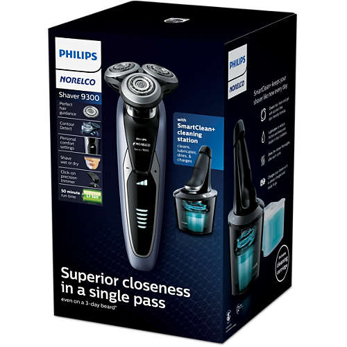 Norelco Shaver 9300 Wet & dry electric shaver, Series 9000
