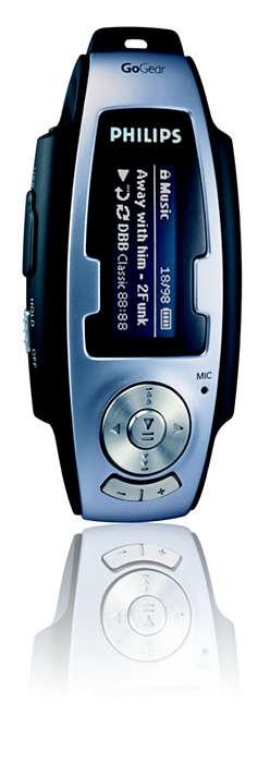 Navržen pro formáty pro MP3 a WMA