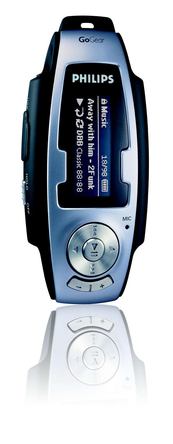 Uw MP3's en WMA's altijd bij de hand