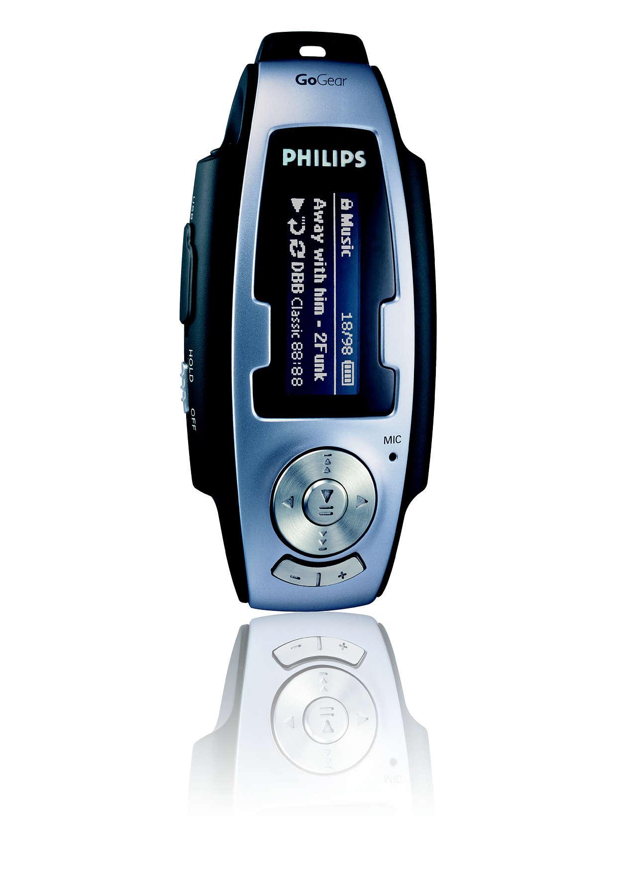 Pronto a utilizar com MP3 e WMA