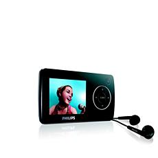 SA3225/12  Reproductor de vídeo portátil