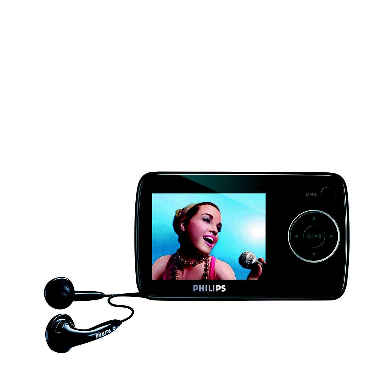 Música y vídeo en cualquier lugar