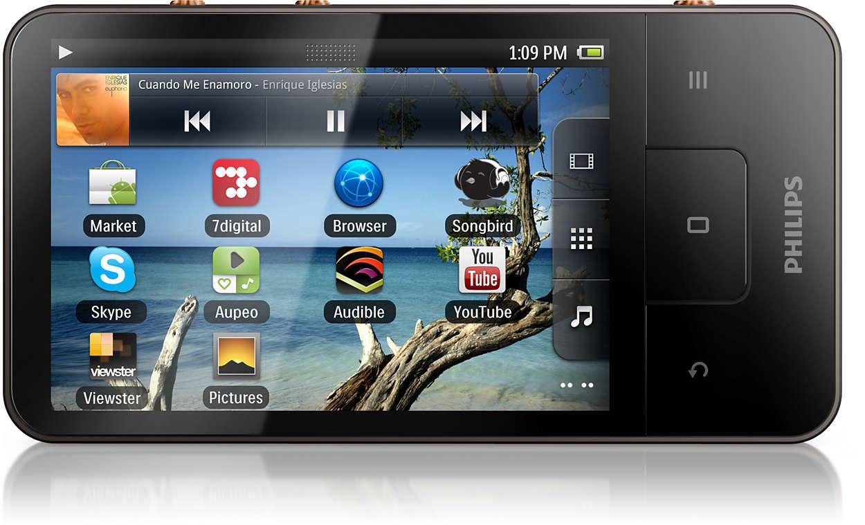 Zahlreiche Apps und Spiele auf Knopfdruck