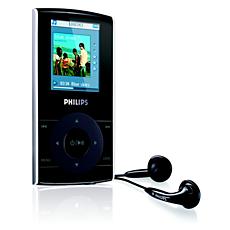 SA5125/02  Odtwarzacz audio-wideo z pamięcią flash