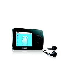 SA6014/02 -    Odtwarzacz audio-wideo z pamięcią flash