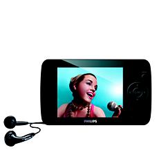 SA6125/00 -    Odtwarzacz audio-wideo z pamięcią flash