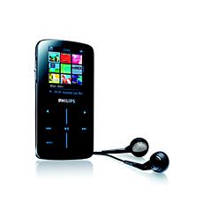 SA9345/00 -    Odtwarzacz audio-wideo z pamięcią flash