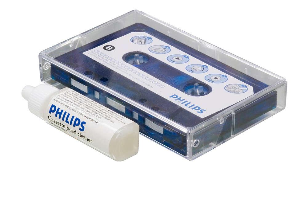 Rengjør og beskytt kassettspilleren
