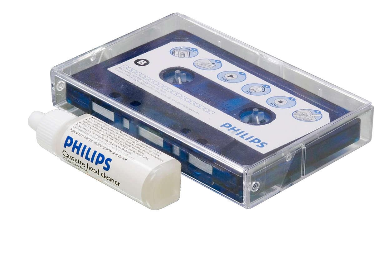 Limpe e proteja o seu leitor de cassetes de áudio