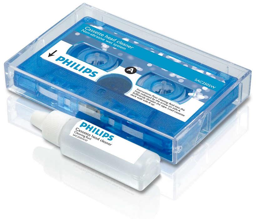 Limpia los reproductores de cassettes