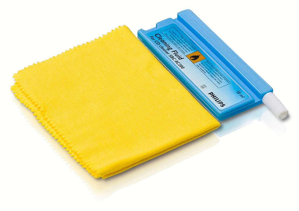 Rengør og beskyt dine diske