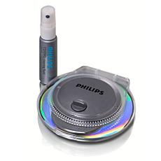 SAC2540/10  CD/DVD radial cleaner
