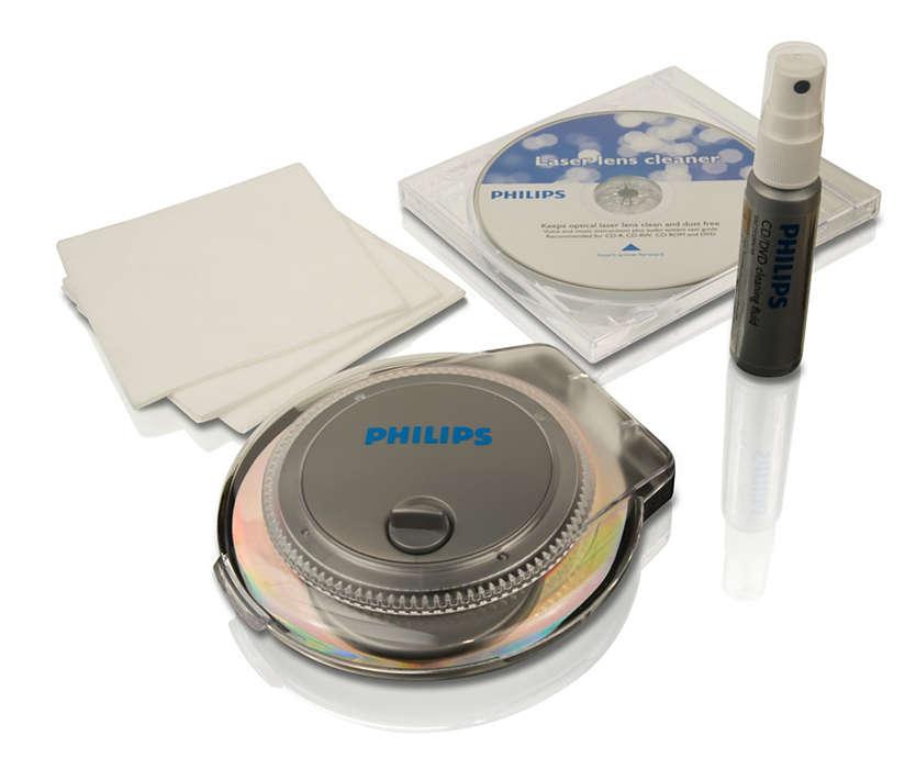 Alt du trenger for å rengjøre CD/DVD