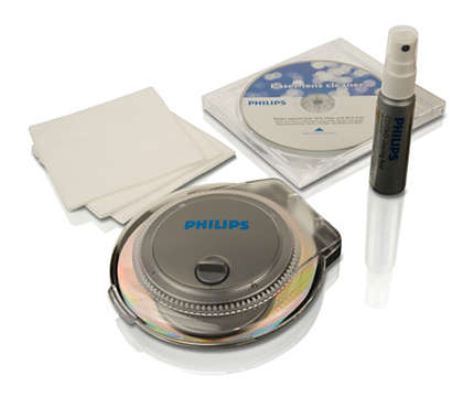 Vse, kar potrebujete za čiščenje CD-jev/DVD-jev