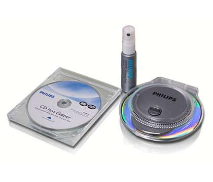 Vše, co potřebujete k čištění disků CD/DVD