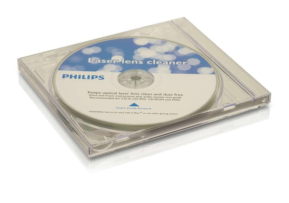 Limpa e protege seu aparelho de CD e DVD
