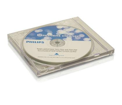 Očistite in zaščitite CD- in DVD-predvajalnik