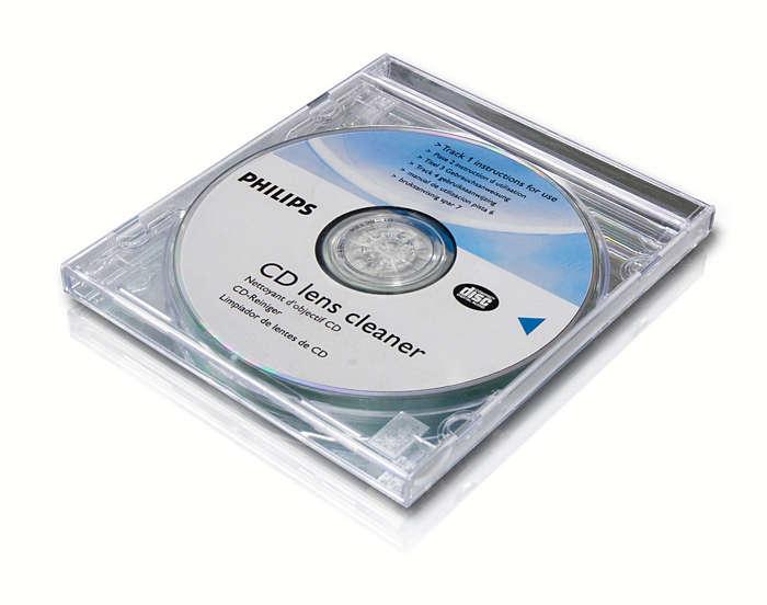 Valykite ir saugokite savo CD ir DVD leistuvą