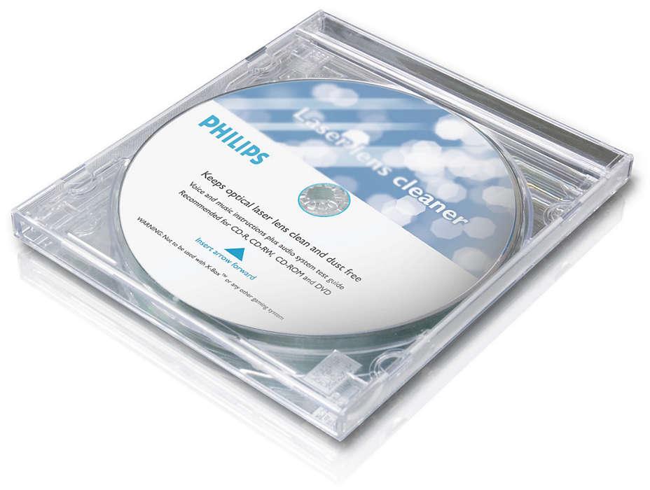 Limpia los lentes de CD de manera segura
