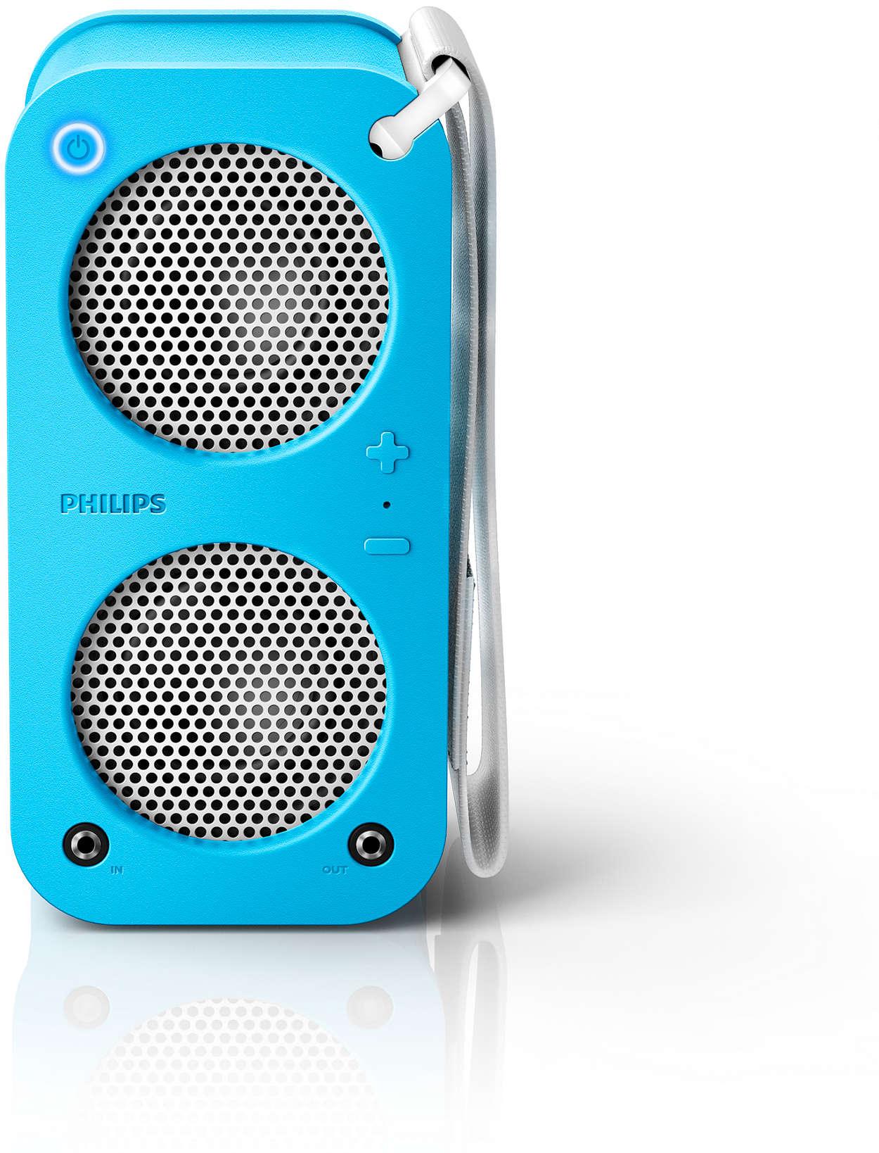 Skvělý zvuk · Odolný · Možnost řetězového propojení