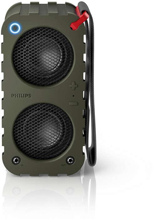 Audio eccezionale · Rinforzato · Collegabile a catena