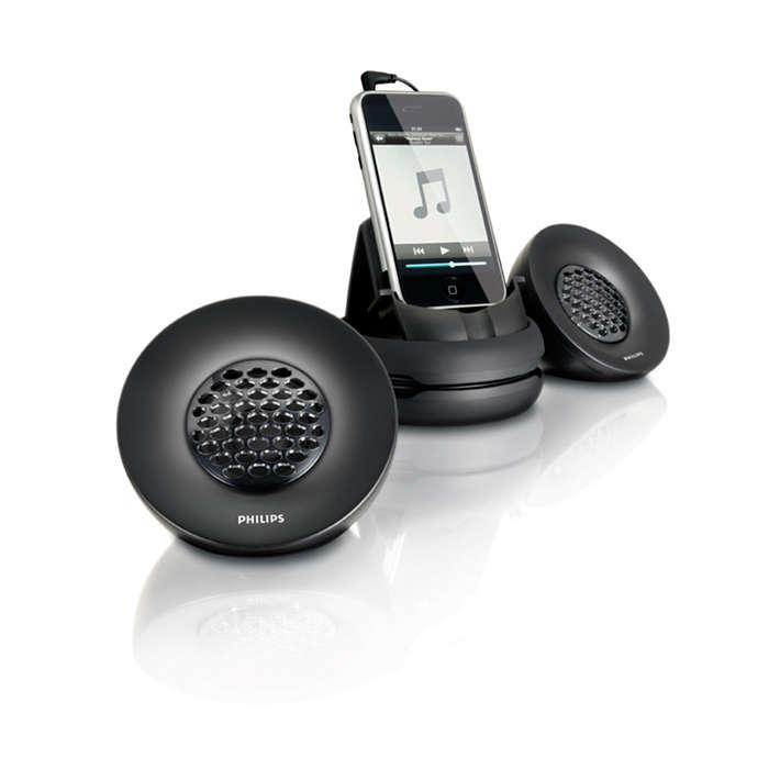 Bärbara högtalare för iPhone