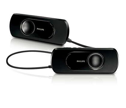 Calitate audio excelentă 2 x 2 W