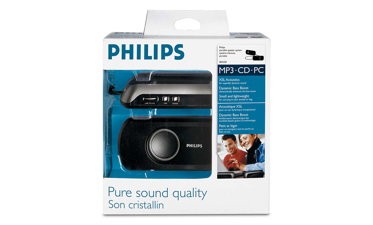 Bærbart høyttalersystem SBA22000 | Philips