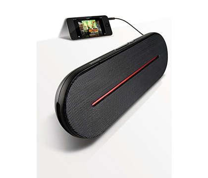 Vysoce kvalitní přenosný stereofonní zvuk,