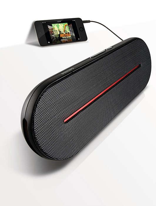 Przenośny, wysokiej jakości dźwięk stereo
