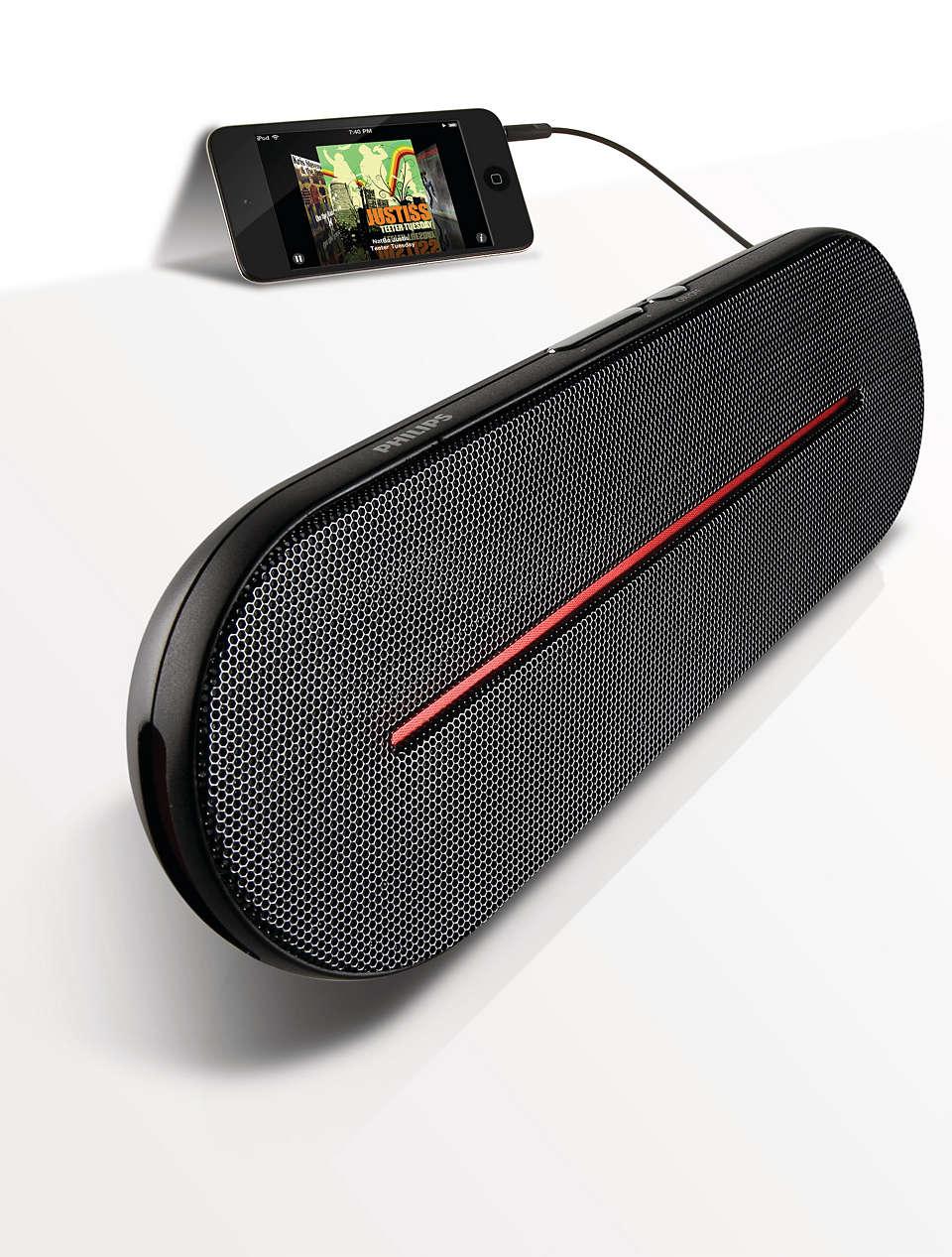 Portable, high-quality stereo sound
