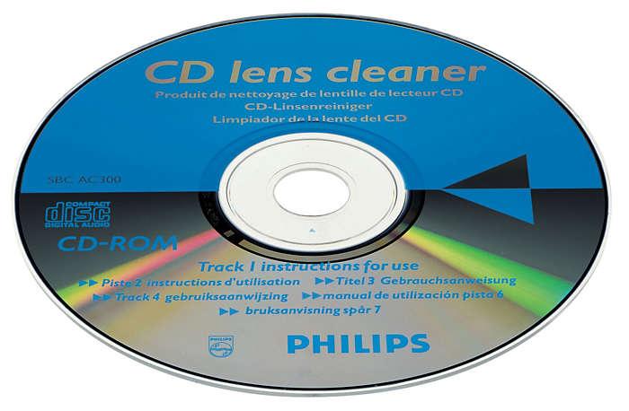 Limpe e proteja o CD player