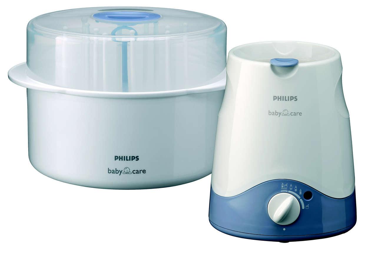 Ohřívač láhví+mikrovlnný sterilizátor
