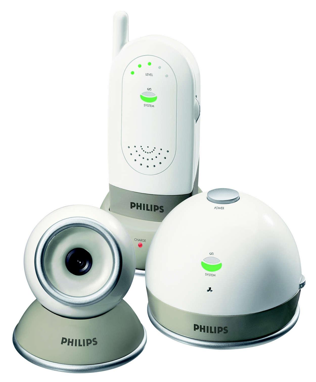 Kombinert baby-fargekamera og -monitor