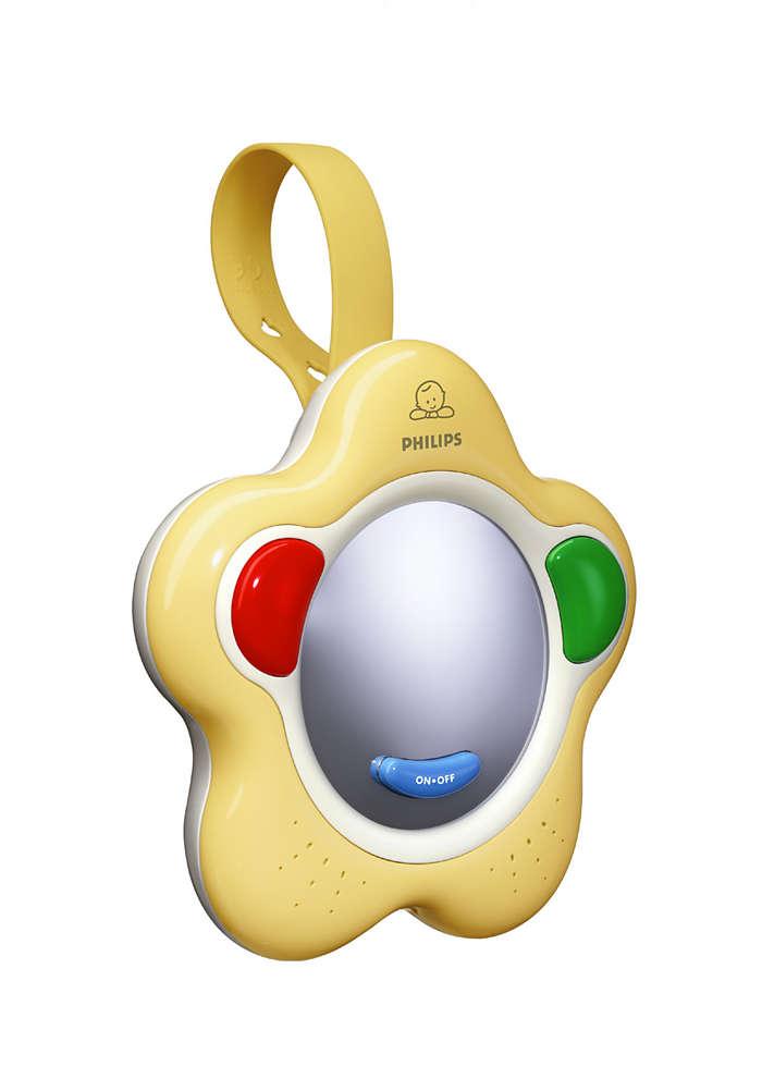 Stimuleert de eerste geluiden en woordjes van uw baby