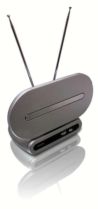 Du kan modtage analogt og digitalt TV