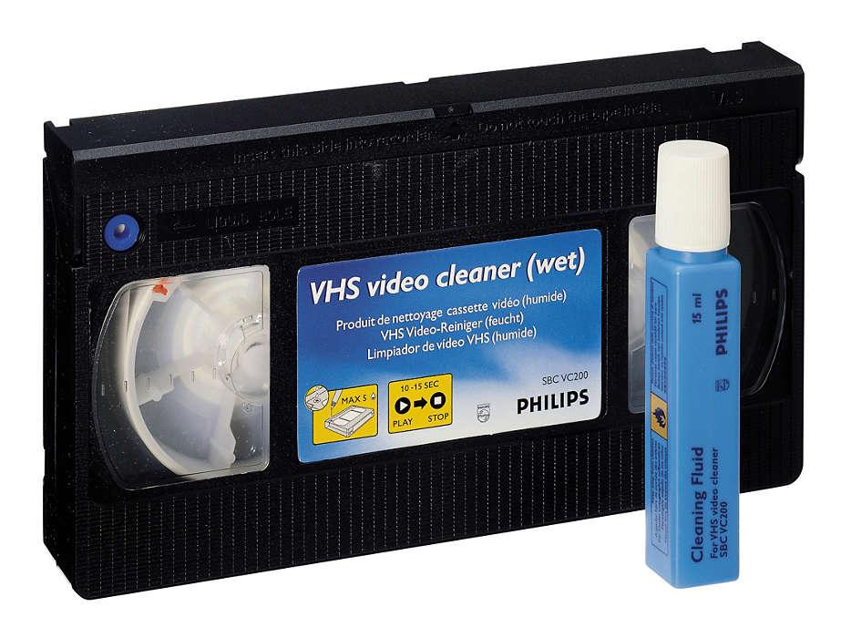 ทำความสะอาดและปกป้องเครื่องเล่น VCR ของคุณ