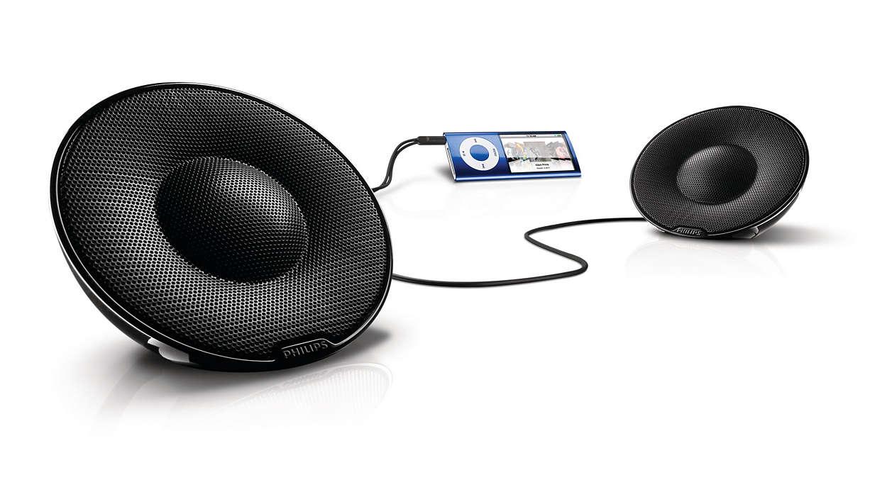 Sonido estéreo puro portátil
