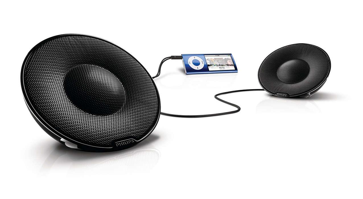 Audio stereo nitido in movimento