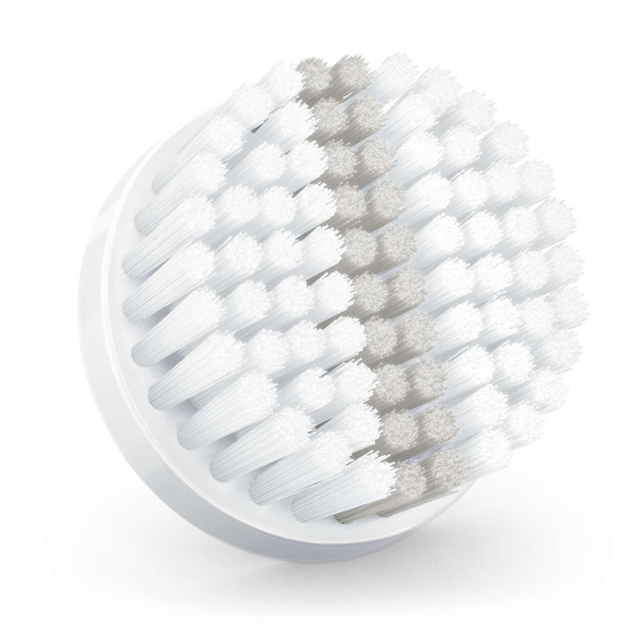 Cabeça de escova de substituição com efeito esfoliante