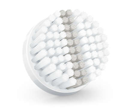 Exfoliation brush head for all skin types