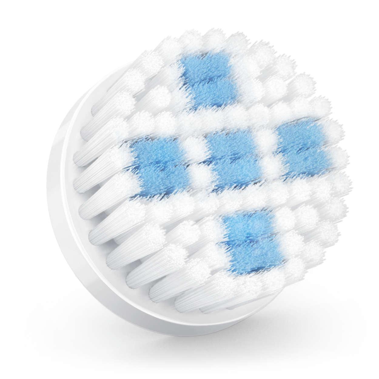 Bürstenkopf mit porentiefem Reinigungseffekt