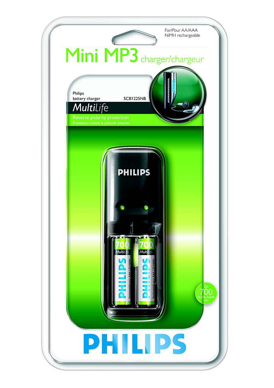 Philips Ładowarka akumulatorów AAAAA (4xAAA 800 mAh