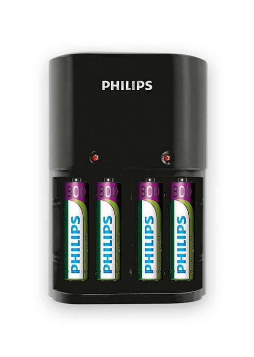 Lader batteriene helt opp over natten