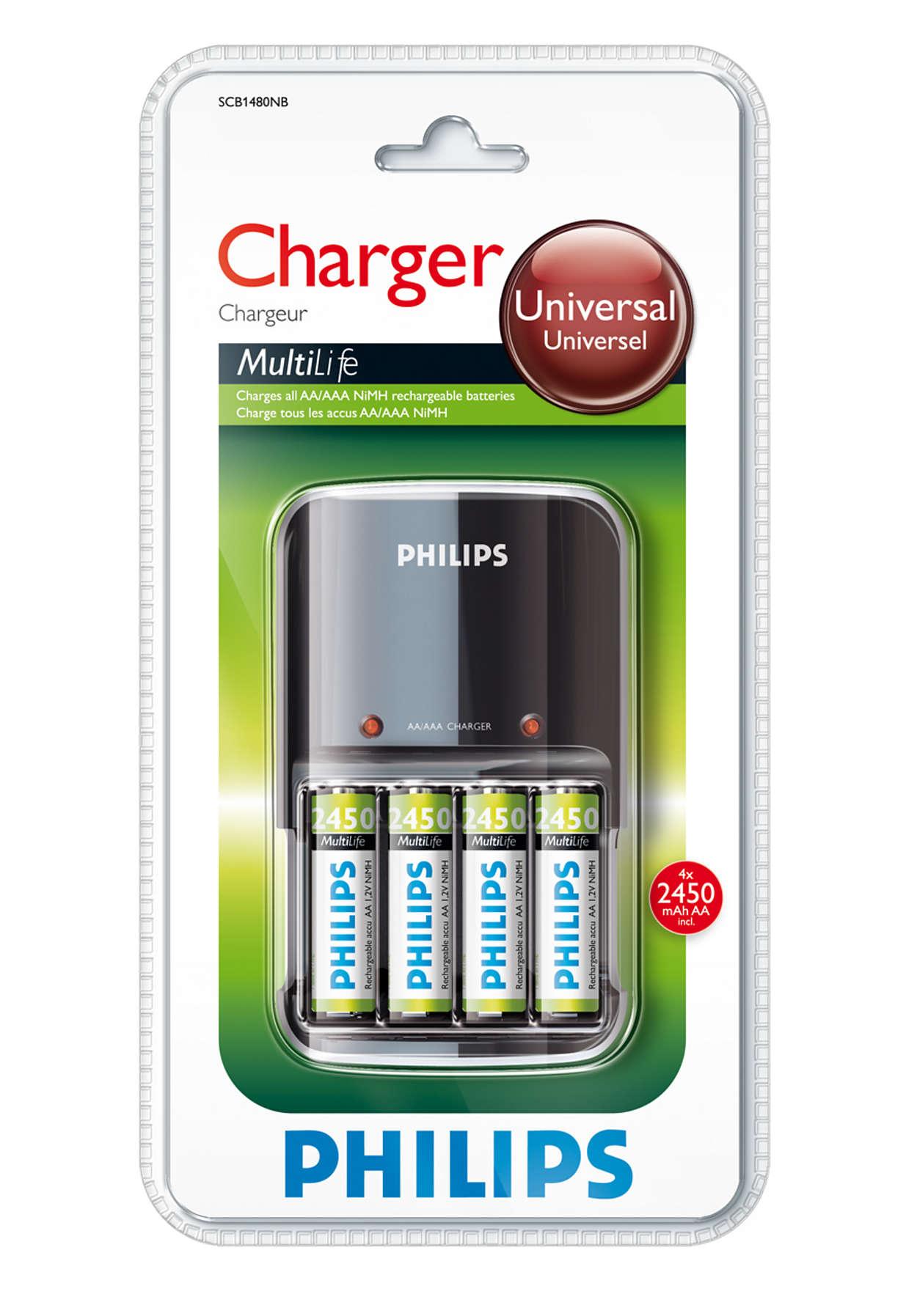 Напълно зарежда батериите за една нощ