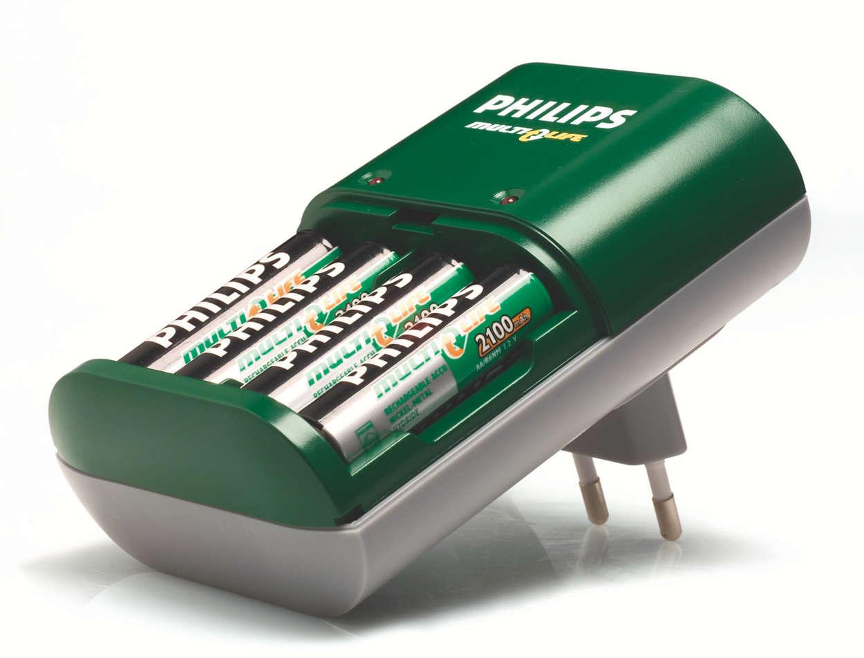 Uw batterijen volledig opladen in maximaal 5 uur